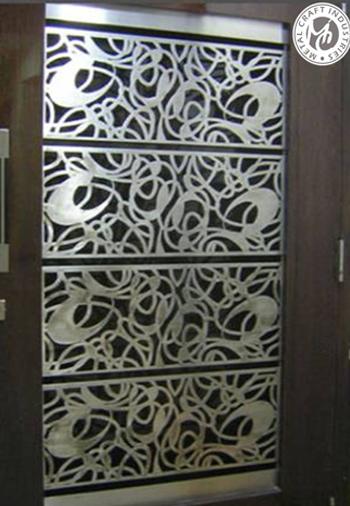Mdf jali designs for Door design steel jali